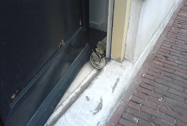 Slipper between the door