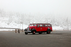 Glacier National Park (Montana, USA): retro tour bus