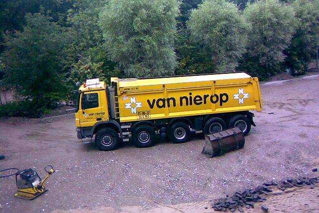 Big truck delivering sand