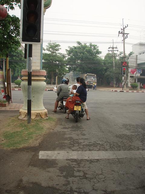 Kanchanaburi family scooter