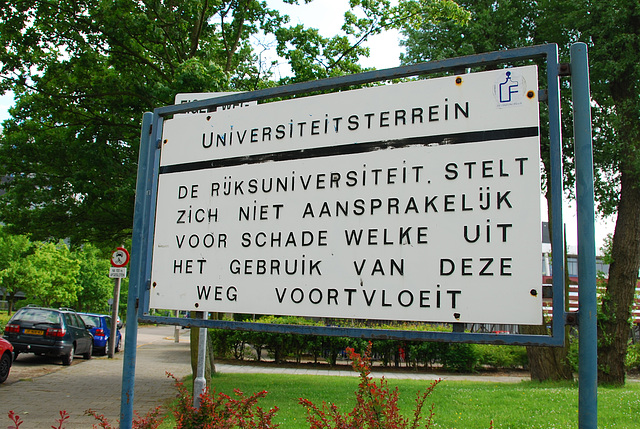Old signs of Leiden University