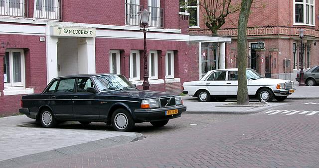 1988 Volvo 240 GL B6 & 1980 Mercedes-Benz 200 D