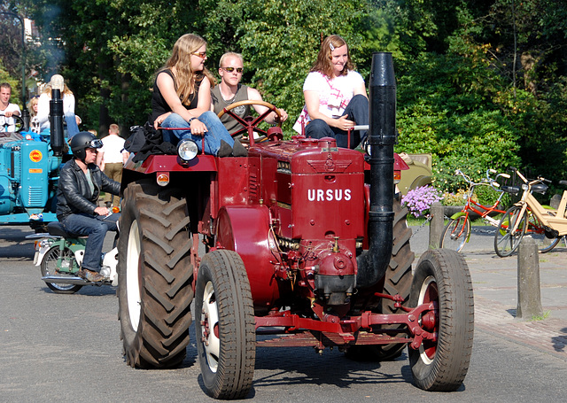Oldtimer day at Ruinerwold: The Ursus tractor is a babe magnet