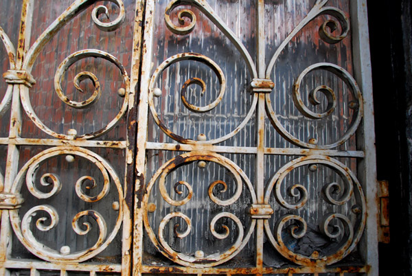 Rusty wrought iron