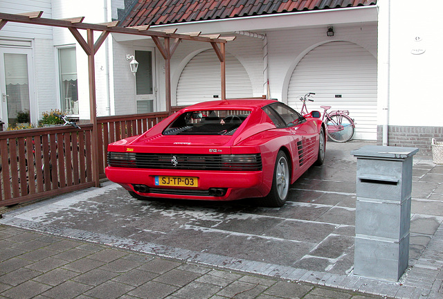 It is not every day that you can see a Ferrari parked on a driveway