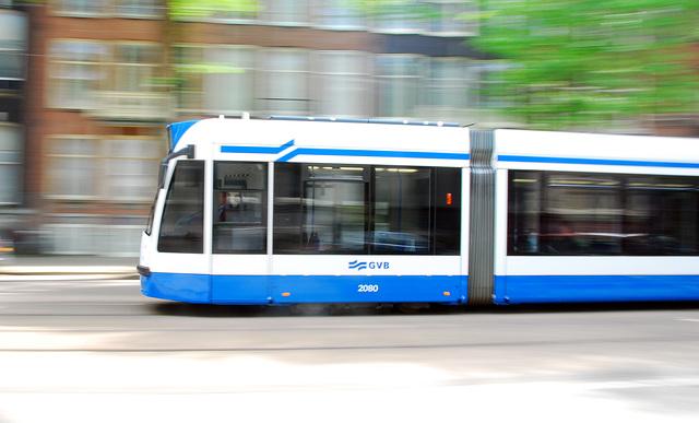Combino tram in Amsterdam