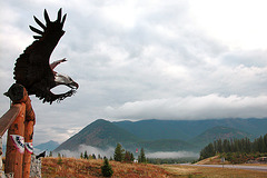 Near the entrance of Glacier National Park (Montana)