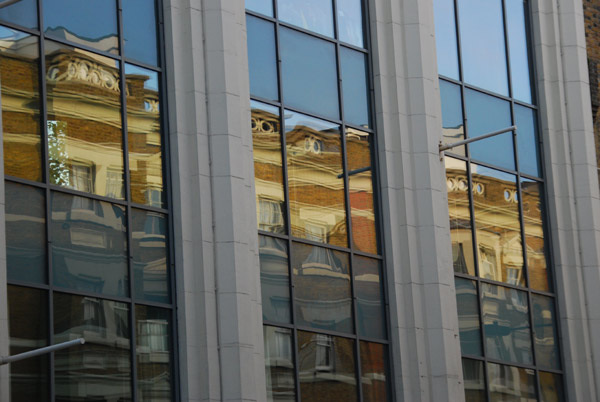 Royal College Street reflected