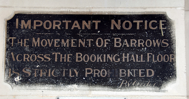 Notice at Waterloo Station