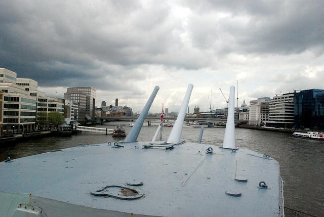 Guns trained on London