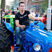 Oldtimer day at Ruinerwold: Leaving for the tractor tour
