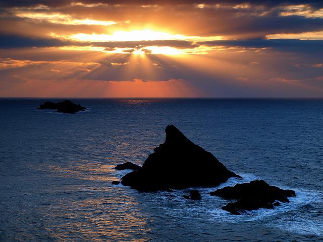 Sunrays At Trevose Head