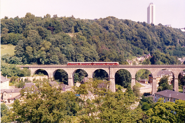 Old pics: Railway bridge in Luxemburg