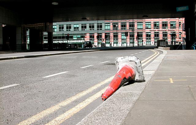 Traffic cone in London