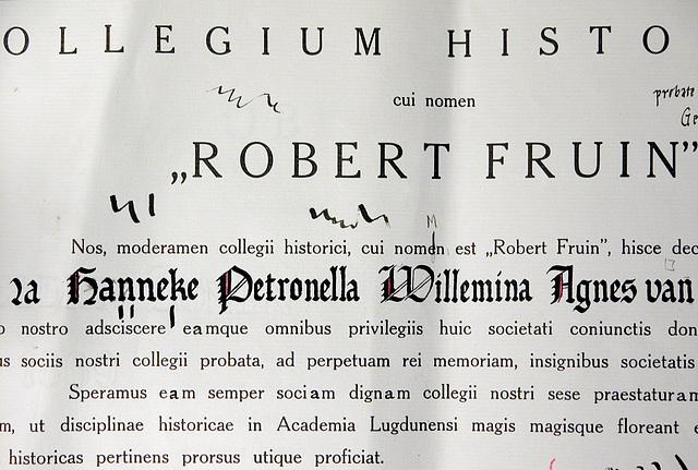 """The Leiden historical student fraternity """"Robert Fruin"""": Practise version of a bull"""
