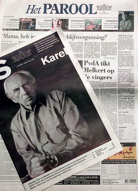 The Parool newspaper with a memorial piece about Karel van het Reve