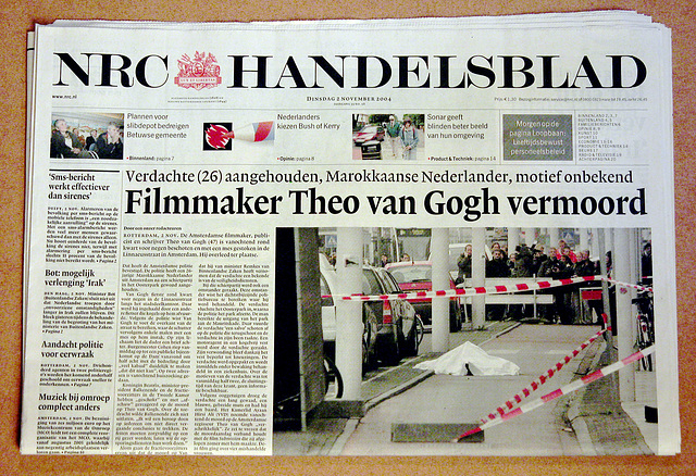 Recent history in old newspapers: Filmmaker Theo van Gogh murdered