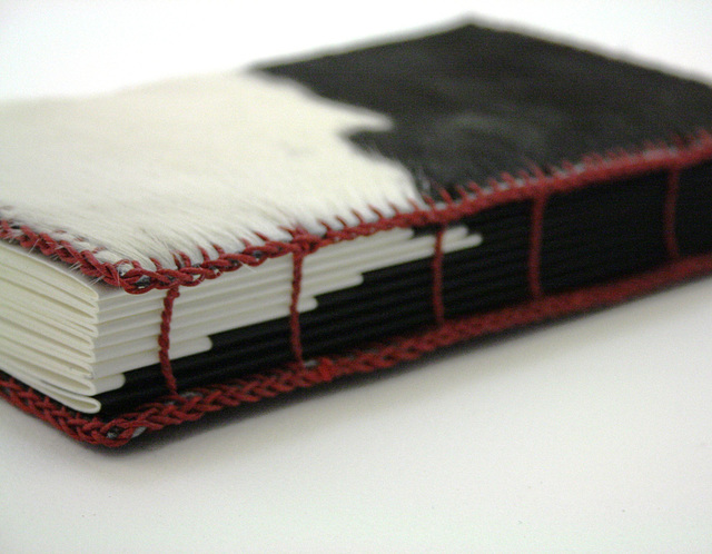 Hair-on Cow-Pattern Ledger-Style Journal