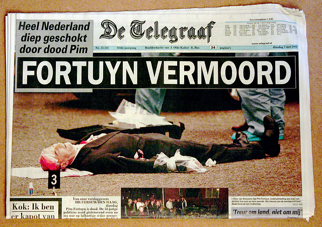 Recent history in old newspapers: Dutch politician Pim Fortuyn murdered