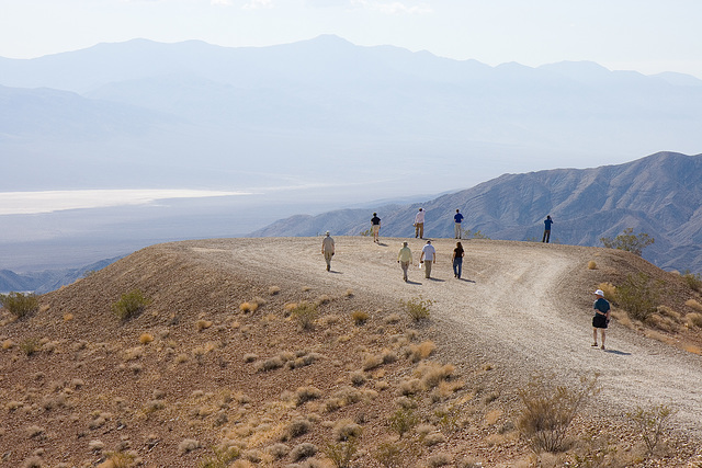 Looking over the Panamint Valley