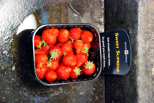 I bought and ate these fancy (and expensive) strawberries