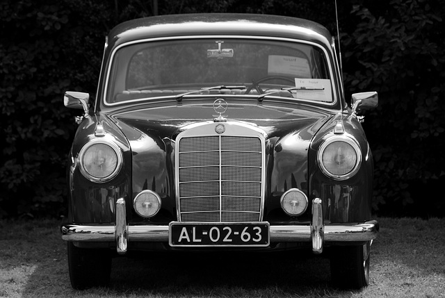Oldtimer day at Ruinerwold: 1959 Mercedes-Benz 220 S