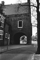 Old picture of the Gevangenpoort (Prisoner's Gate) in The Hague