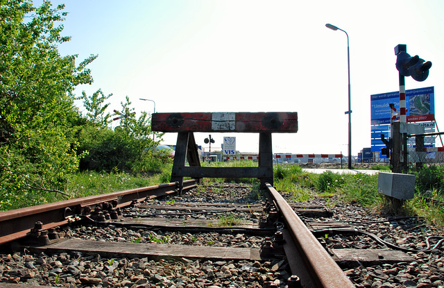 The old branch line to IJmuiden