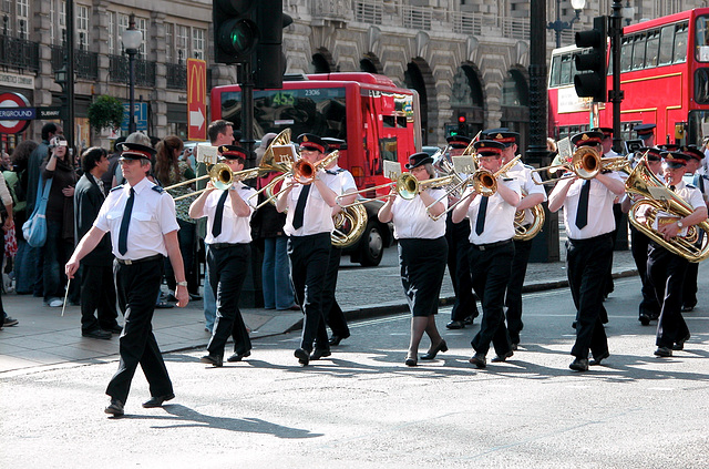 Salvation Army on the march