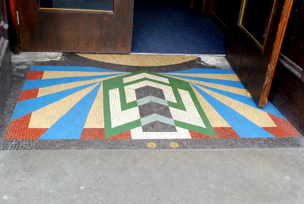 Pub doorway mosaic