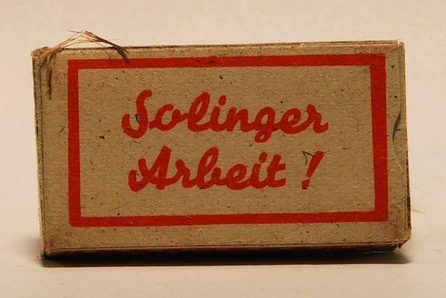 Razor blades: Solinger Arbeit