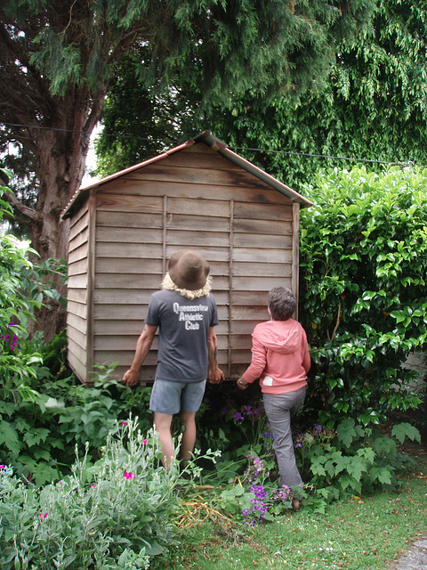 installing Di's chookhouse