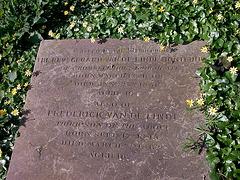The grave of Gerrit van de Linde (De Schoolmeester) in Hornsey Church Yard
