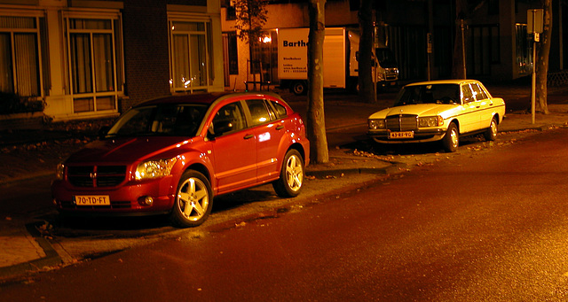 By some bizarre twist of fate, somebody parks a Dodge Caliber in front of my Mercedes