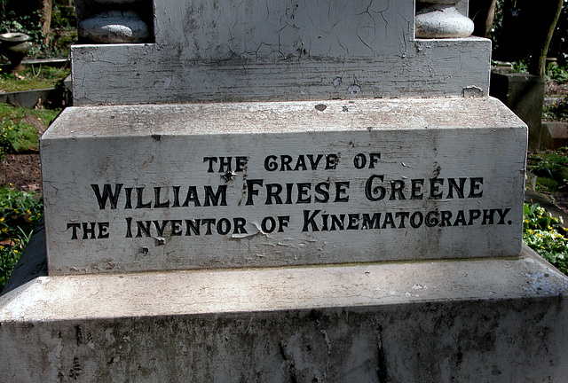 The grave of William Friese Greene in Highgate