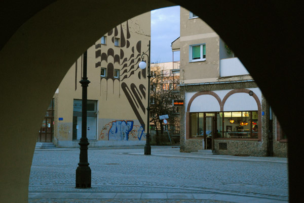 Legnica through the arch