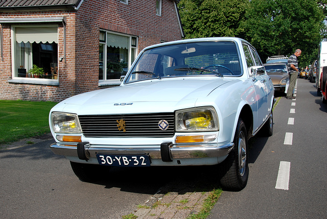 Oldtimer day at Ruinerwold: 1973 Peugeot 504 A12