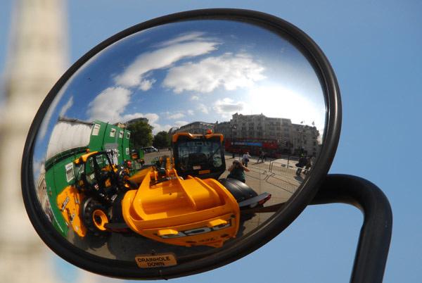 Trafalgar Square reflected
