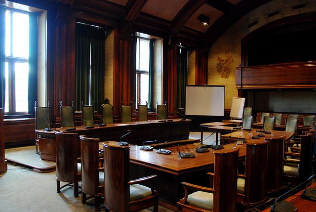 Leiden City Hall: The City Council room