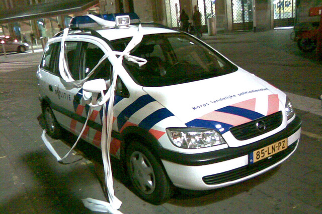 Ornamented Police Car