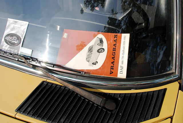Oldtimer day at Ruinerwold: Mercedes-Benz with a DAF technical book