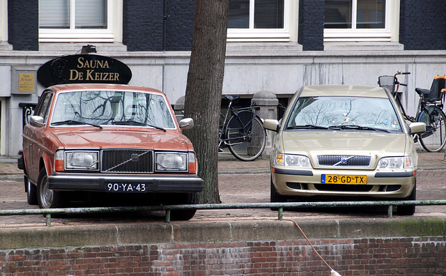Old and new Volvo