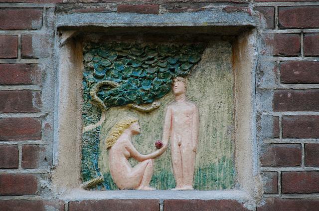 New gable stone: Adam & Eve