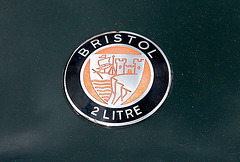 1957 Bristol 2 litre badge