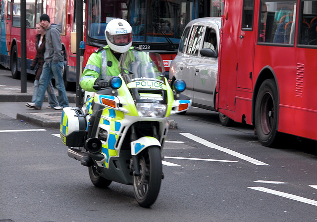 Motorcycle police of London