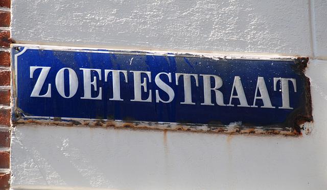 Enamel street sign