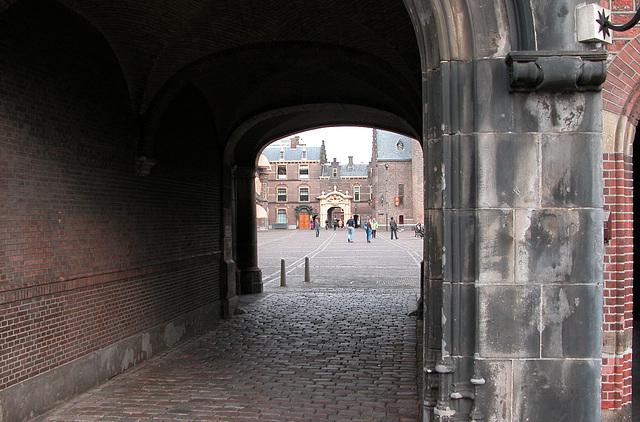 The Hague: entrance to the Inner Court (Binnenhof)