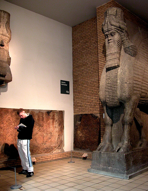 British Museum: Boy and a huge mythical creature