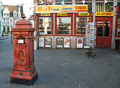 Old letter box in Ghent (Belgium)