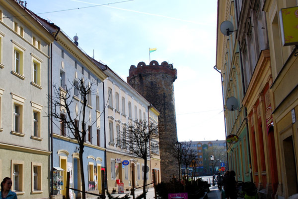 Looking up to the Blacksmith's Tower, Zlotoryja